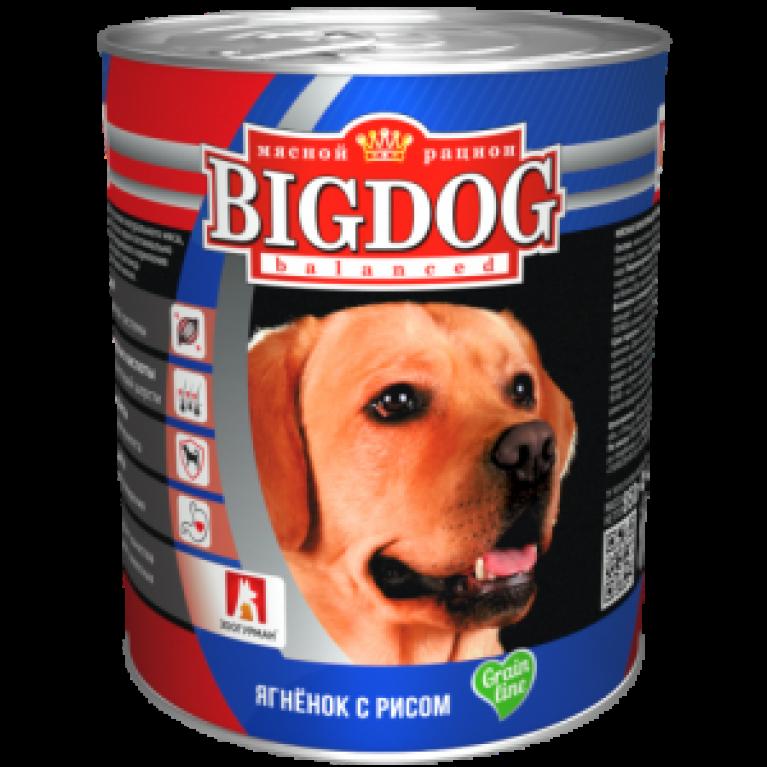 """Big Dog консервы для собак """"Ягненок с рисом"""" 850гр"""
