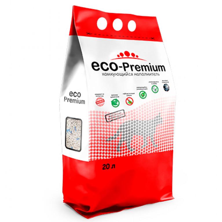 ECO Premium GREEN Наполнитель древесный комкующийся