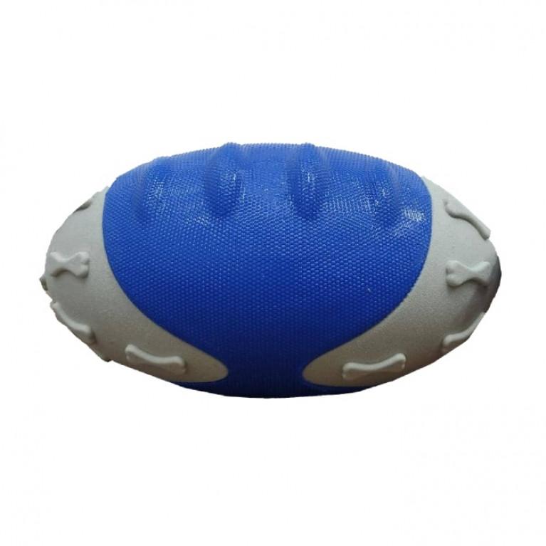 YUGI Игрушка для собак Мяч резиновый овальный серо-голубой