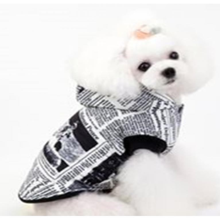 Куртка Газета белая