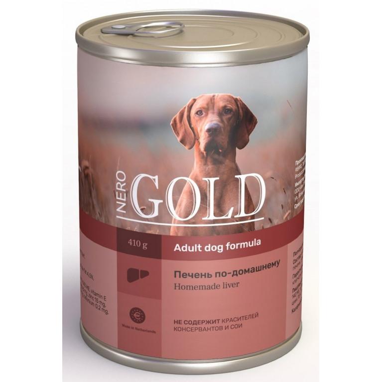 """Nero Gold кусочки в желе консервы для собак """"Печень по-домашнему"""""""