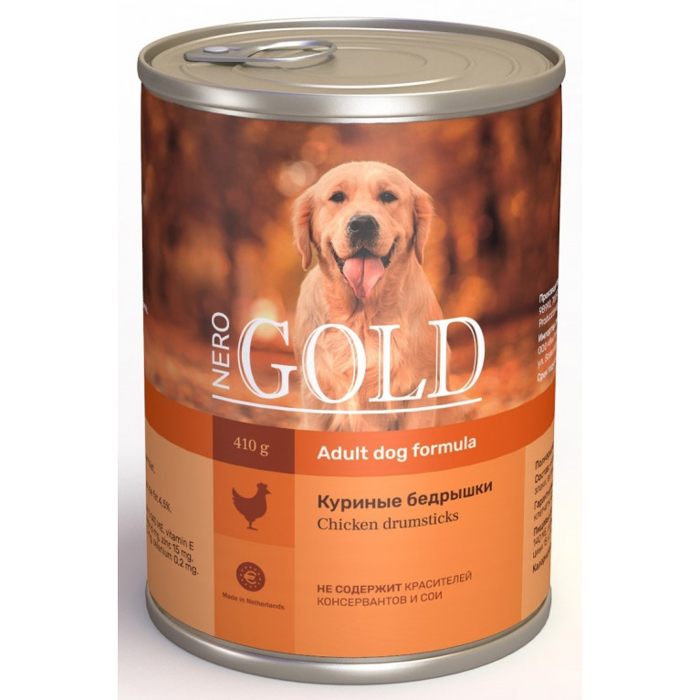 "Nero Gold консервы для собак ""Куриные бедрышки"""