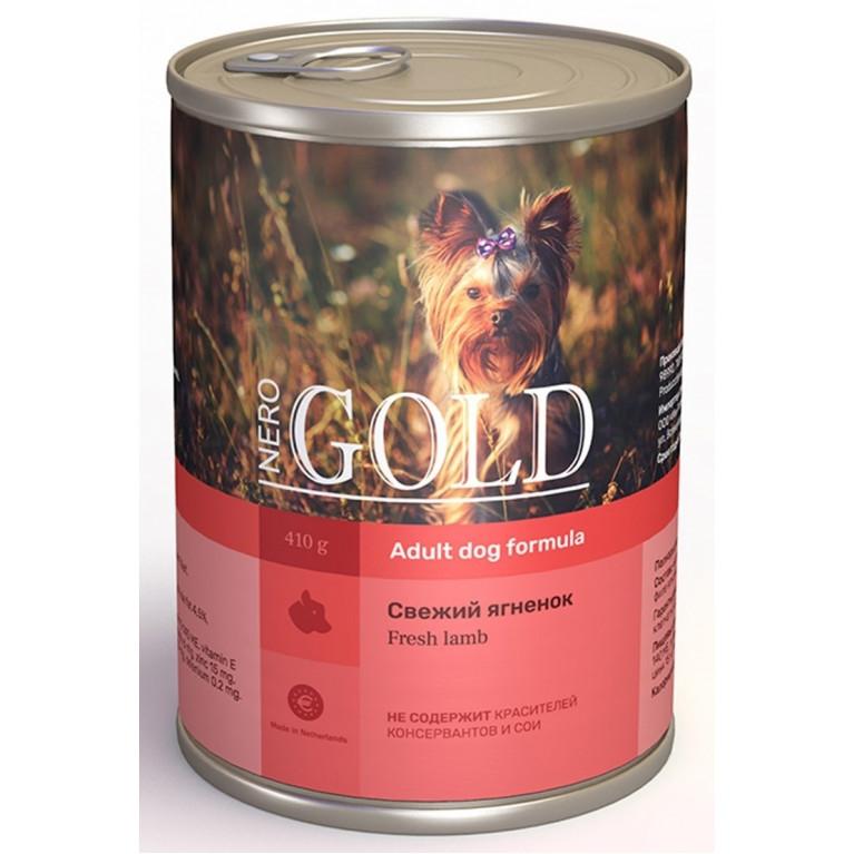 """Nero Gold консервы для собак """"Свежий ягненок"""""""