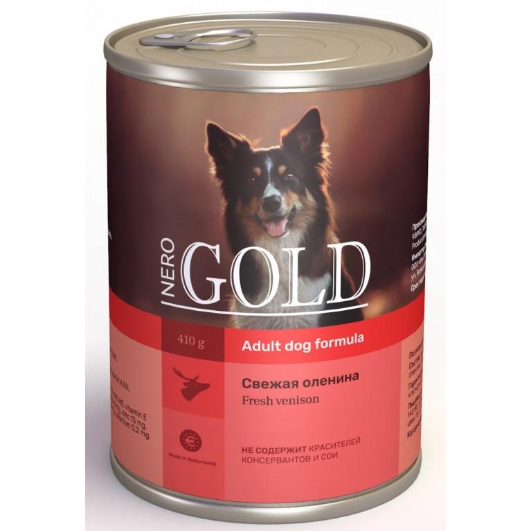 """Nero Gold консервы для собак """"Свежая оленина"""""""
