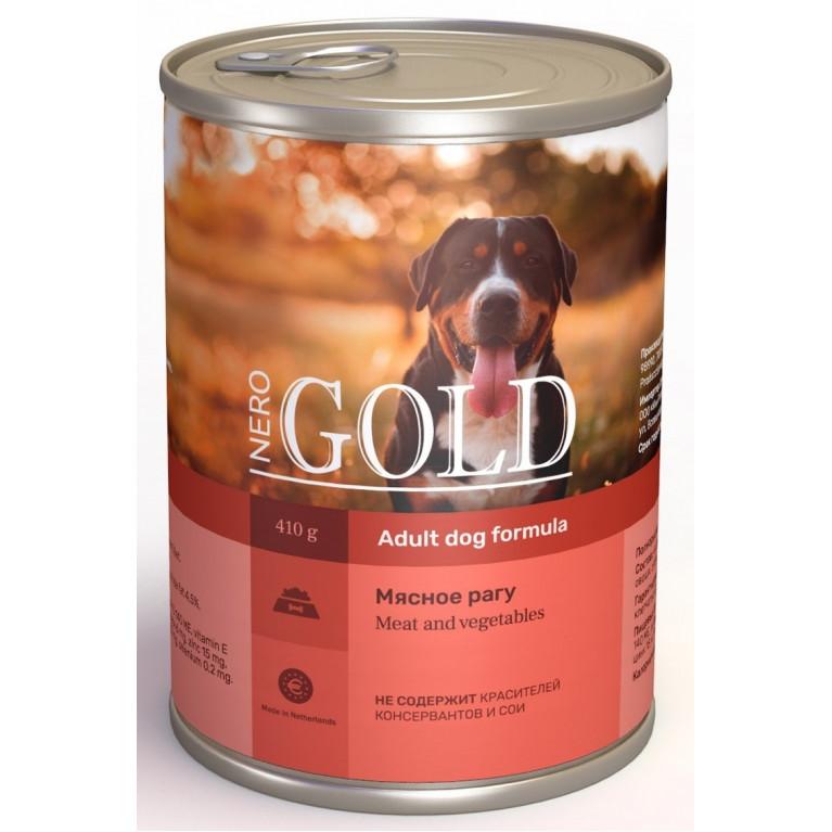 """Nero Gold консервы для собак """"Мясное рагу"""""""