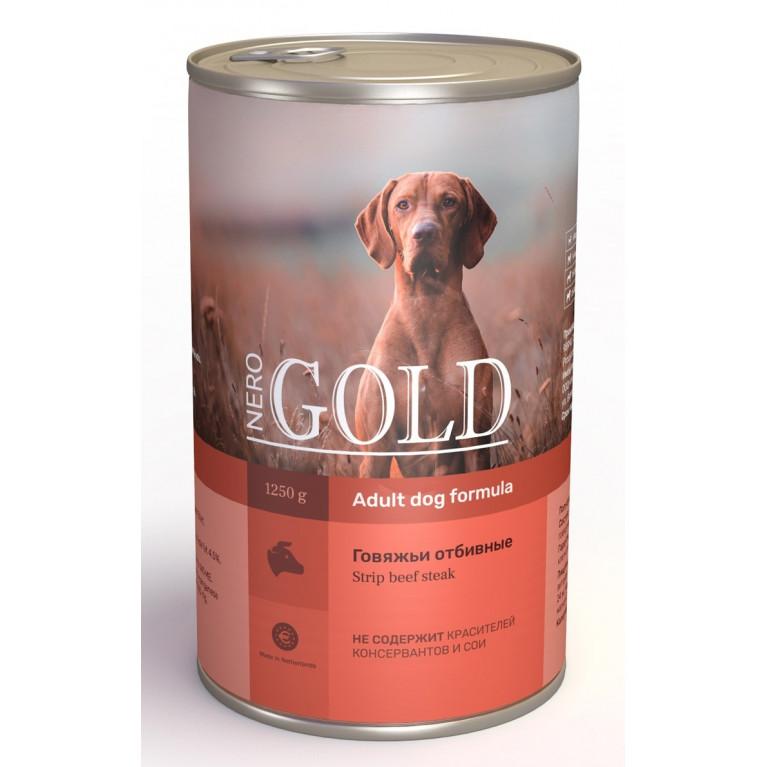 """Nero Gold кусочки в желе консервы для собак """"Говяжьи отбивные"""""""