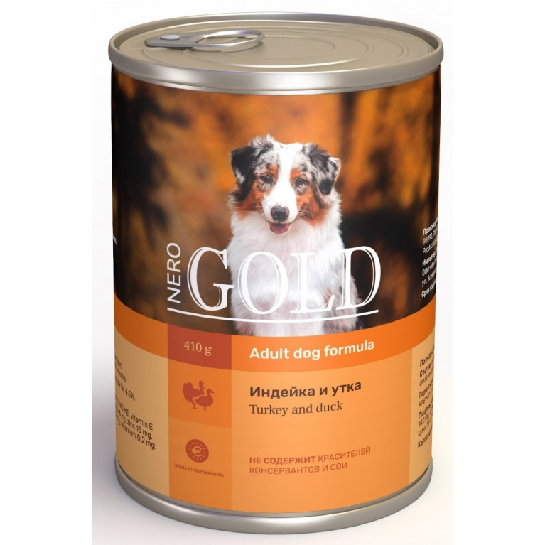 """Nero Gold консервы для собак """"Индейка и утка"""""""