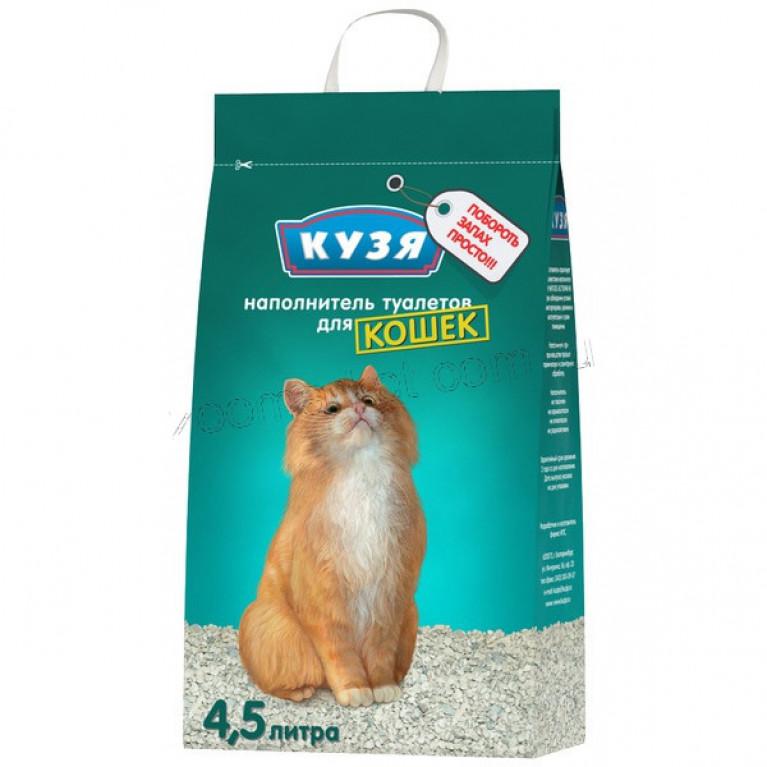 Кузя Наполнитель для кошек минеральный, 4,5 л