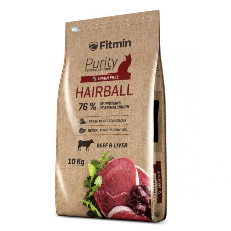 Fitmin Cat Purity Hairball Полнорационный беззерновой корм для взрослых длинношерстных кошек.