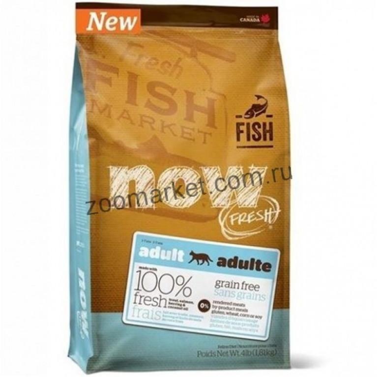 Now Fresh Grain Free Fish Adult Recipe CF/Беззерновой корм для взрослых кошек с форелью и лососем для чувствительного пищеварения