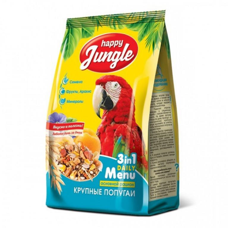 Happy Jungle Корм д/крупных попугаев 500гр