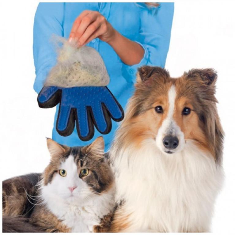 Перчатка для вычесывания шерсти домашних животных «TrueTouch»