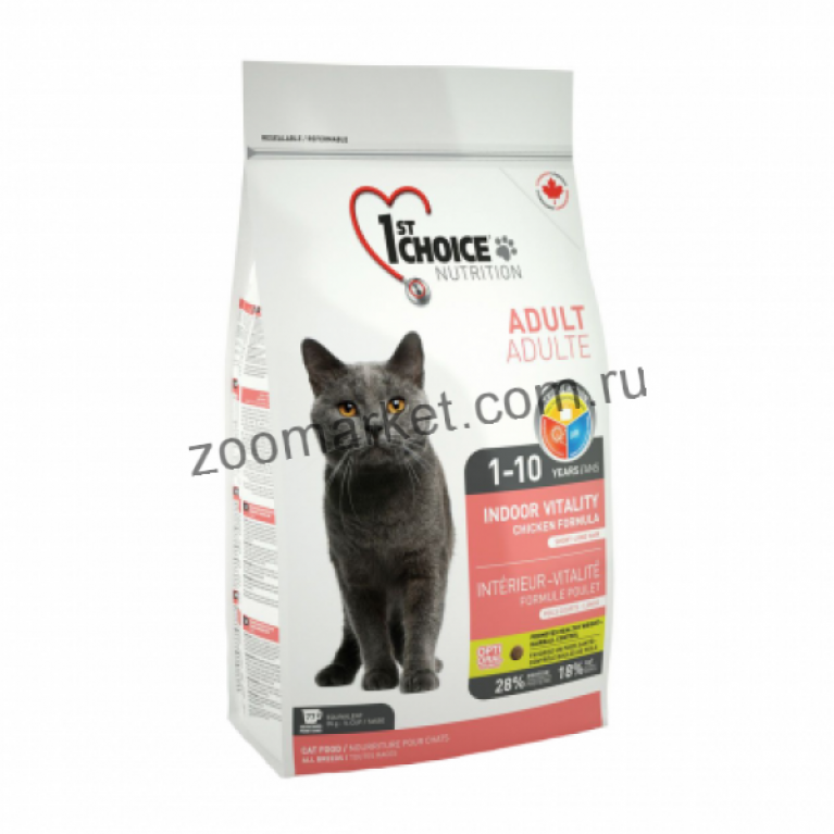 1st Choice Vitality Сухой корм для домашних кошек  (Цыпленок)