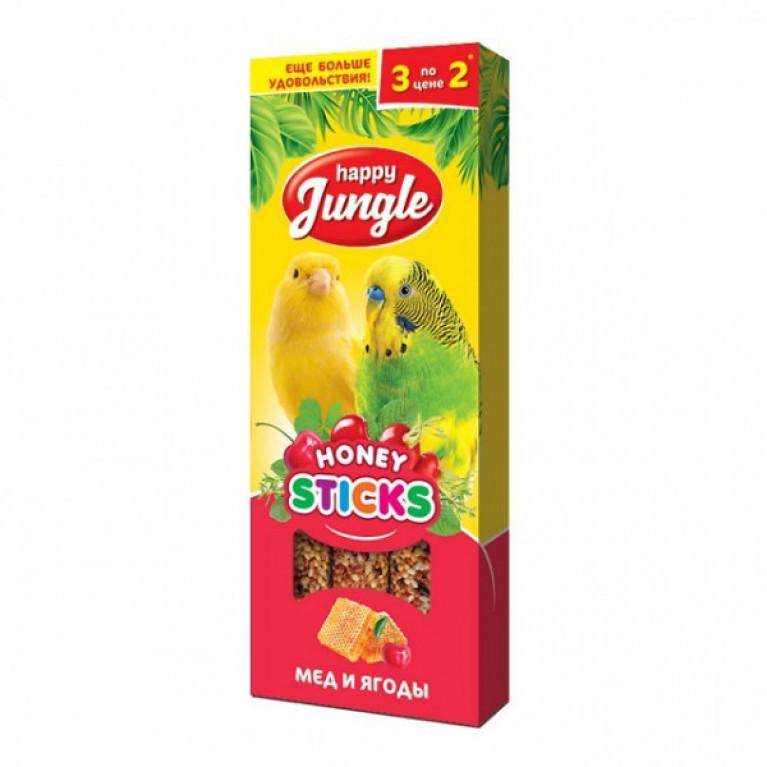 Happy Jungle Колба Мёд и Ягоды (3 палочки) 90г