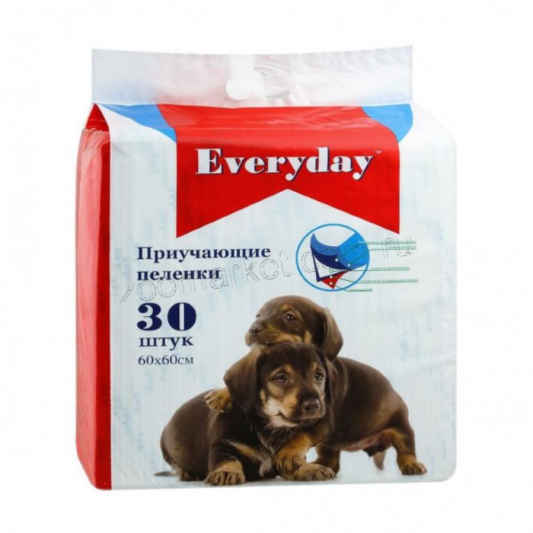 Everyday Гелевые  пеленки для животных  60х60см 30шт
