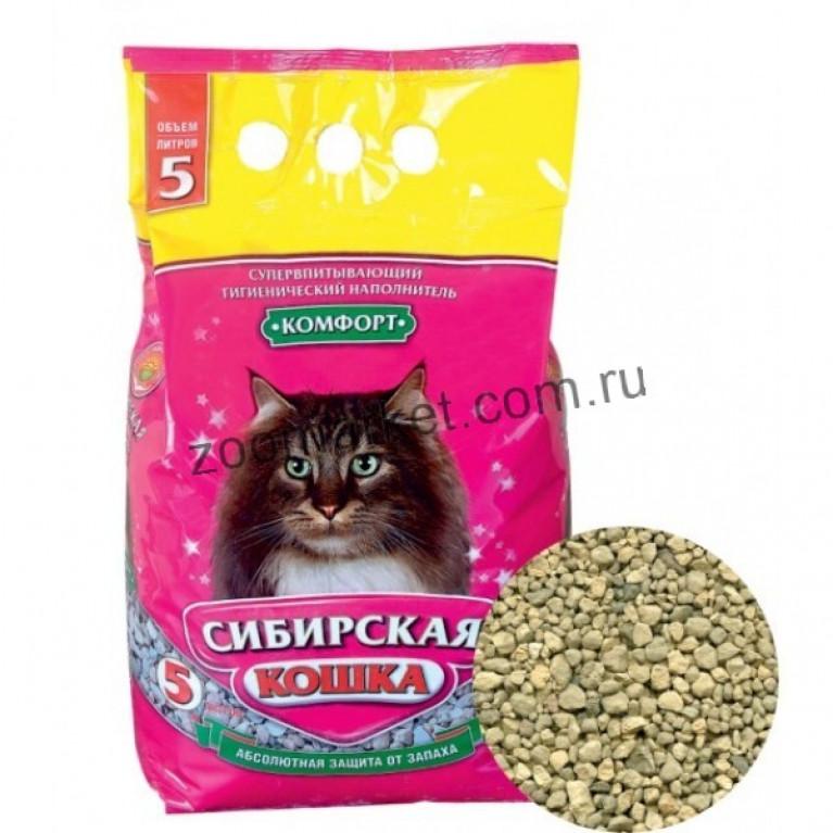 Сибирская Кошка Наполнитель для кошачьих туалетов Комфорт впитывающий