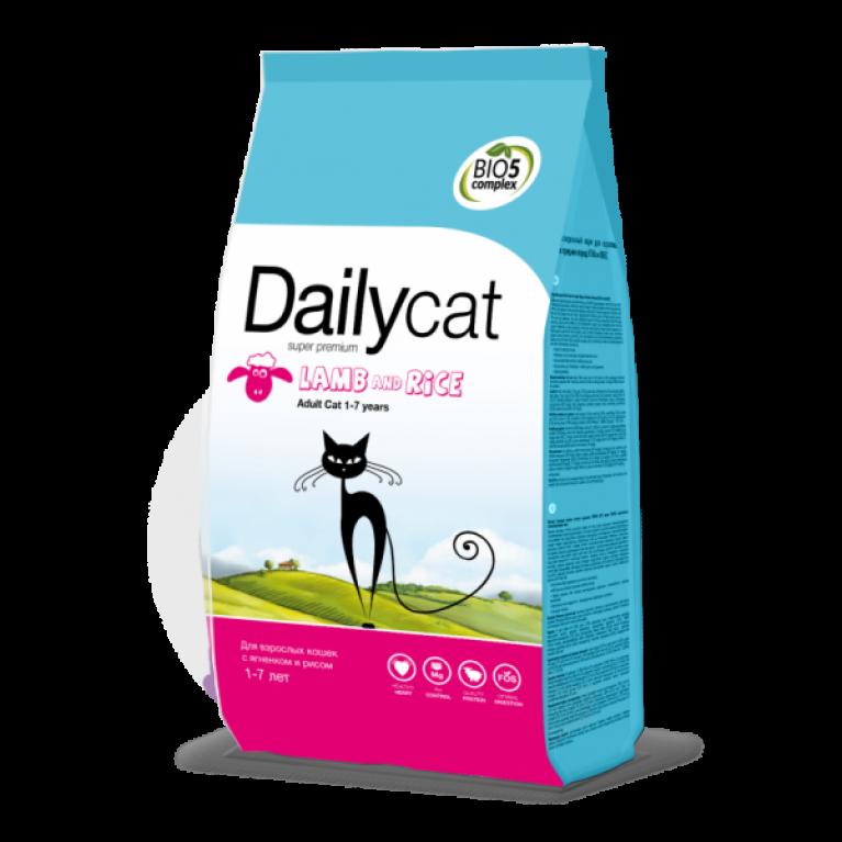 Dailycat ADULT Lamb & Rice Для взрослых кошек с ягненком и рисом