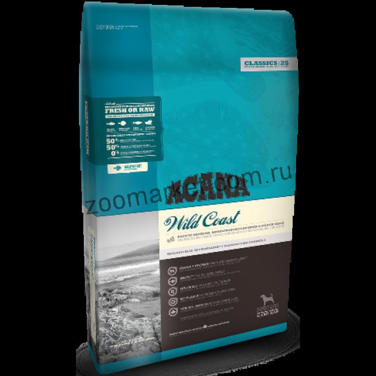 Acana Wild Coast Dog корм для собак всех пород и возрастов с рыбой