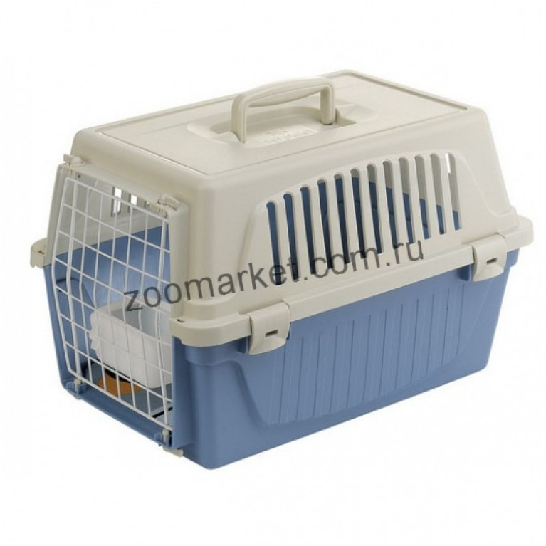Ferplast Holiday ATLAS 10 Контейнер-переноска для мелких собак и кошек (кормушка, матрас, мет. дверь)