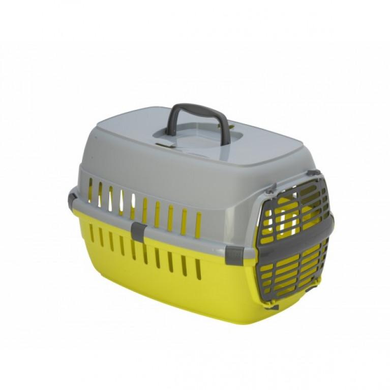 Moderna Roadrunner T100-0329 Переноска с пластиковой дверцей, до 5 кг, 48,5x32,3x30,1 см, лимонно-желтый