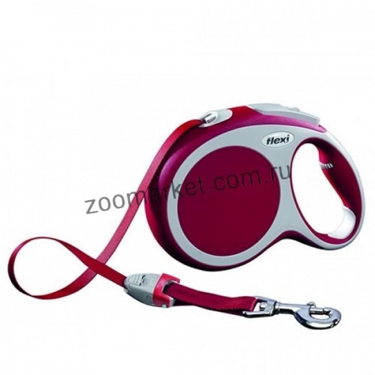 Flexi VARIO (L)/Поводок-рулетка ремень для собак до 60 кг (5м)