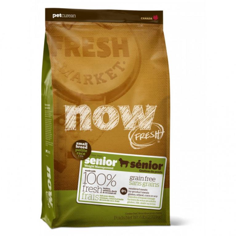 Now Fresh Small Breed Senior Recipe Grain Free Беззерновой корм для пожилых собак малых пород, с индейкой, уткой и овощами