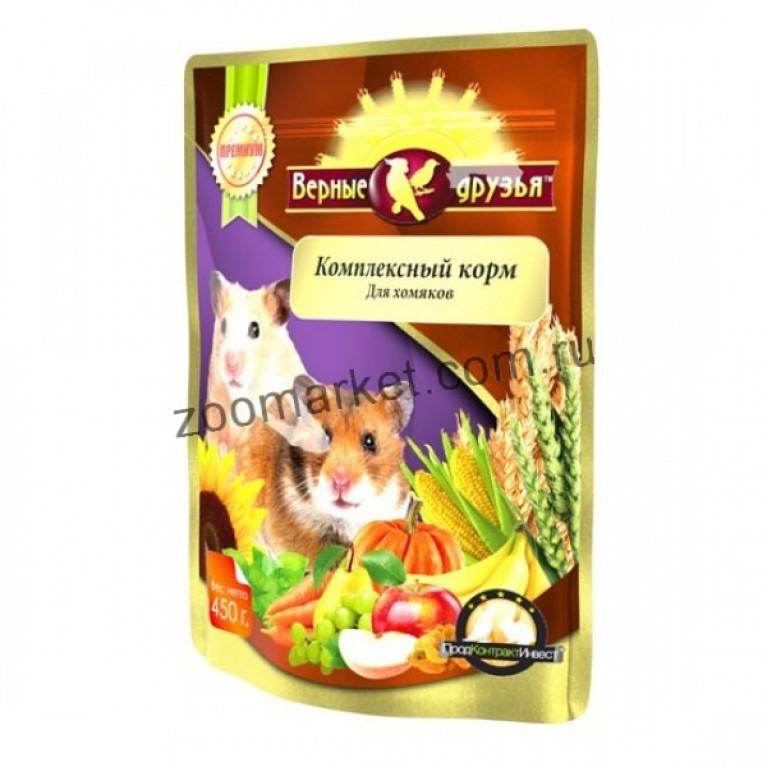 Верные Друзья Премиум Комплексный корм  для хомяков, 450 гр