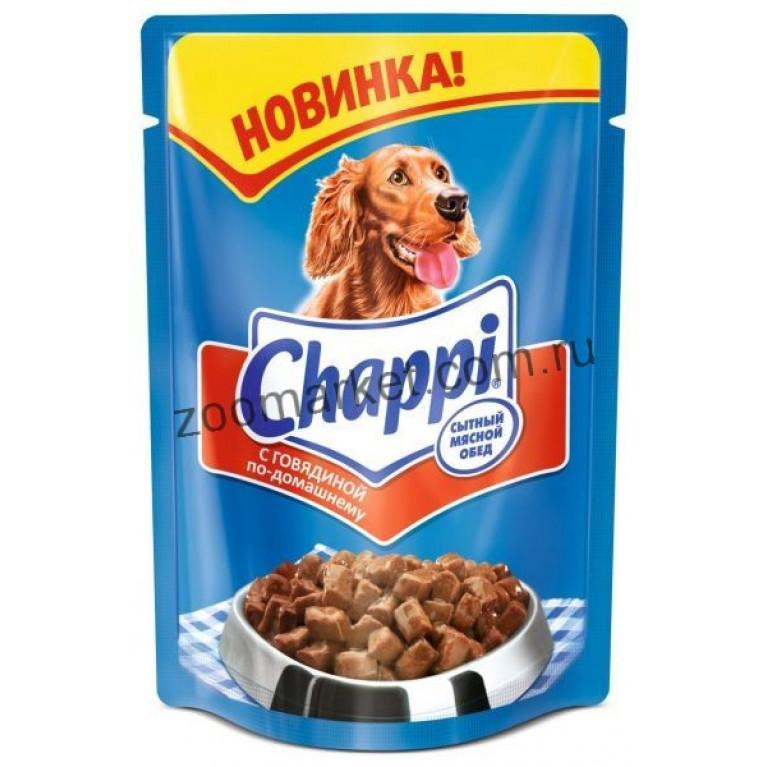 Chappi Консервы для собак (Говядина по-домашнему) 100г, 5 шт