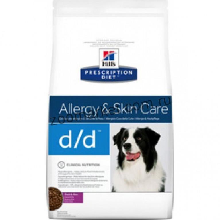 HILL'S Canine D/D Duck & Rice /Сухой корм для собак, лечениe пищевых аллергий, панкреатитов (утка/рис)