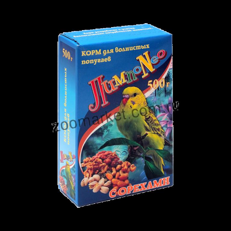 """LimpoNEO Корм для волнистых попугаев """"Орех"""", 500 гр"""
