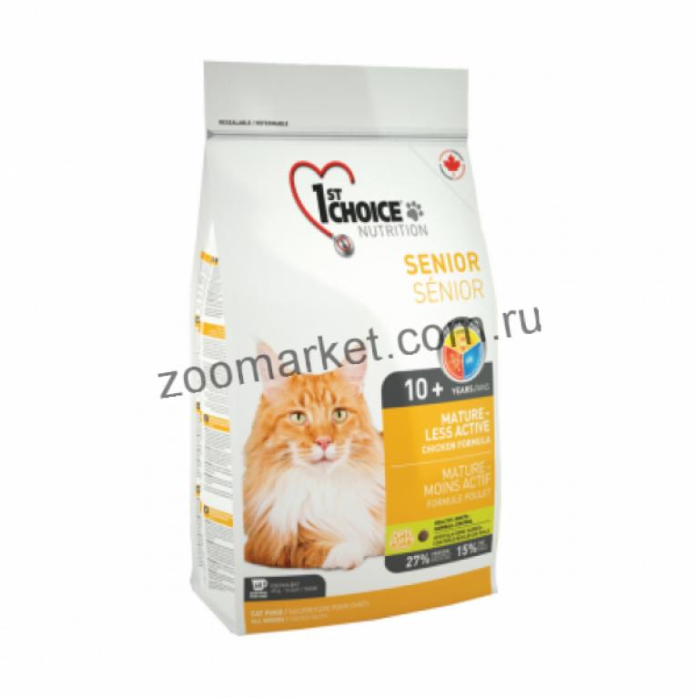 1st Choice Mature or Less Active Сухой корм для кошек (Цыпленок)