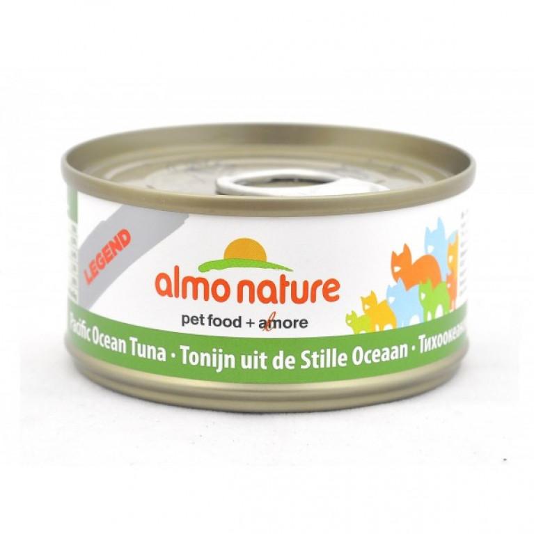 Almo Nature консервы для кошек с тихоокеанским тунцом, 75% мяса, Legend HFC Adult Cat Pacific Tuna 70 гр