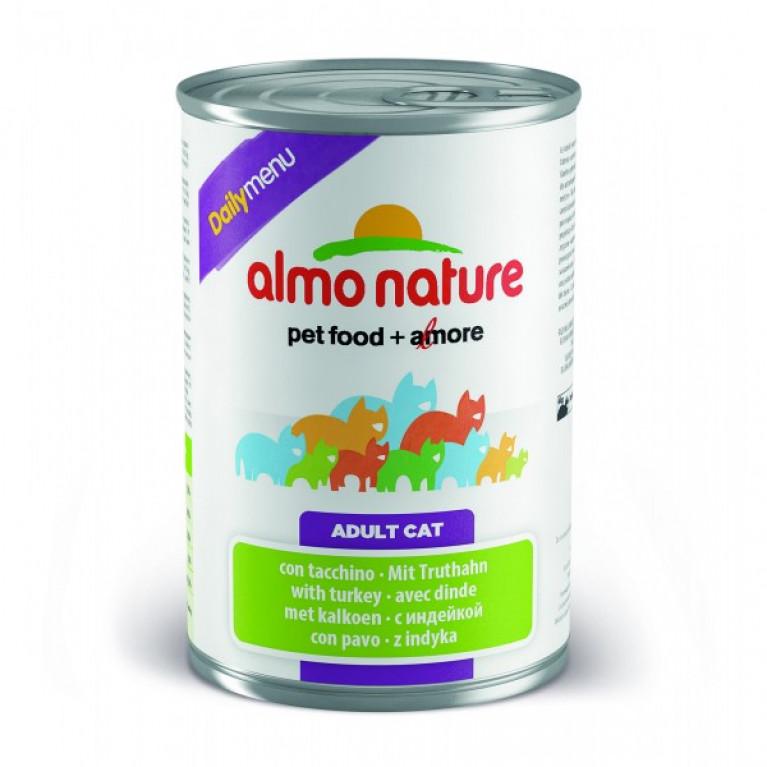 "Almo Nature Daily Menu Turkey консервы для кошек ""Меню с индейкой 400 г"