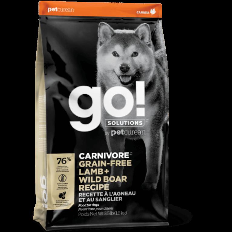 GO! CARNIVORE GF Lamb + Wild Boar Recipe Беззерновой корм для Собак всех возрастов(Ягненком и мясом Дикого кабана) 10 кг