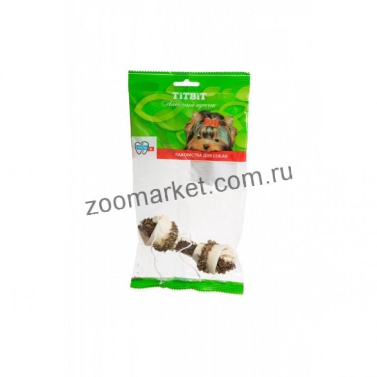 TiTBiT Лакомство Кость узловая № 3 с рубцом говяжьим, мягкая упаковка, 1 шт.