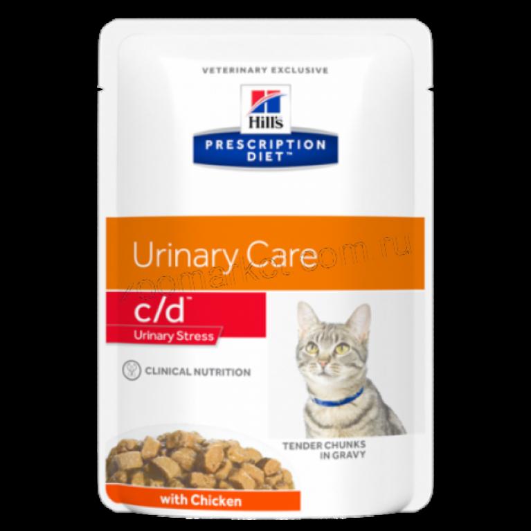 Hill's Prescription Diet c/d/ Консервы для кошек профилактика МКБ  85 гр