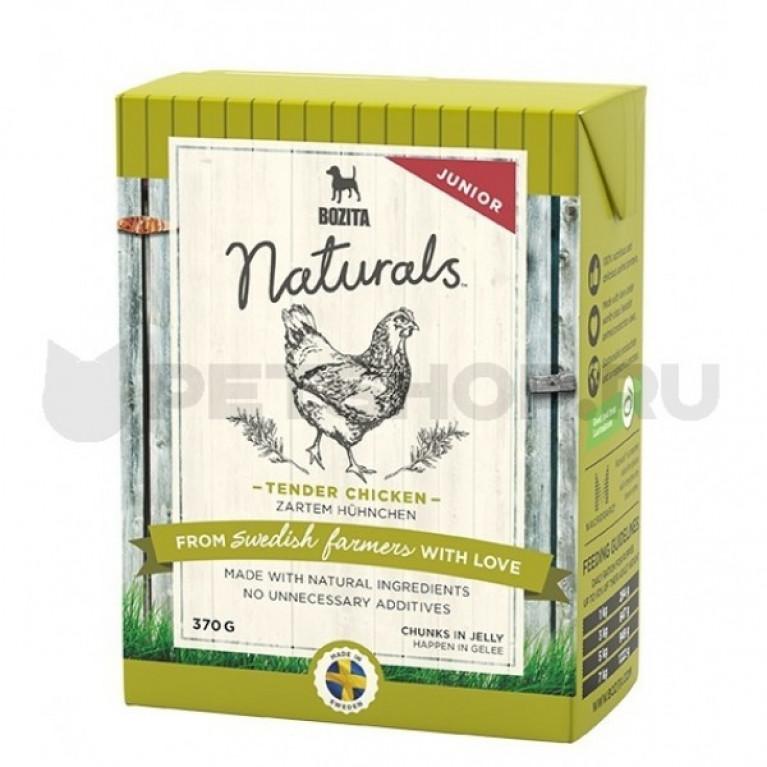 Bozita Naturals кусочки в желе для щенков и юниоров с курицей 370г