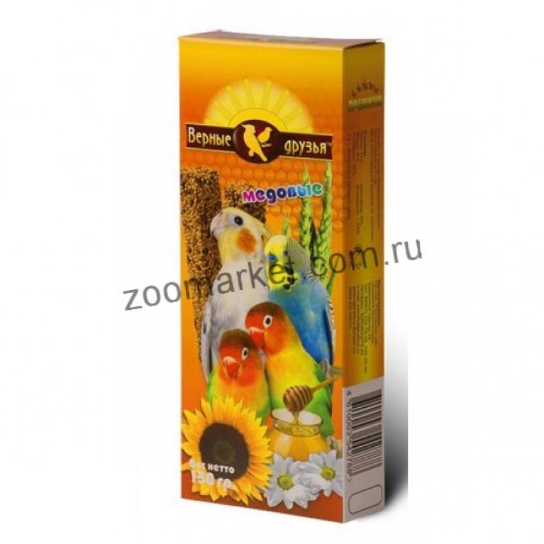 Верные друзья лакомство для попугаев медовое 150 г
