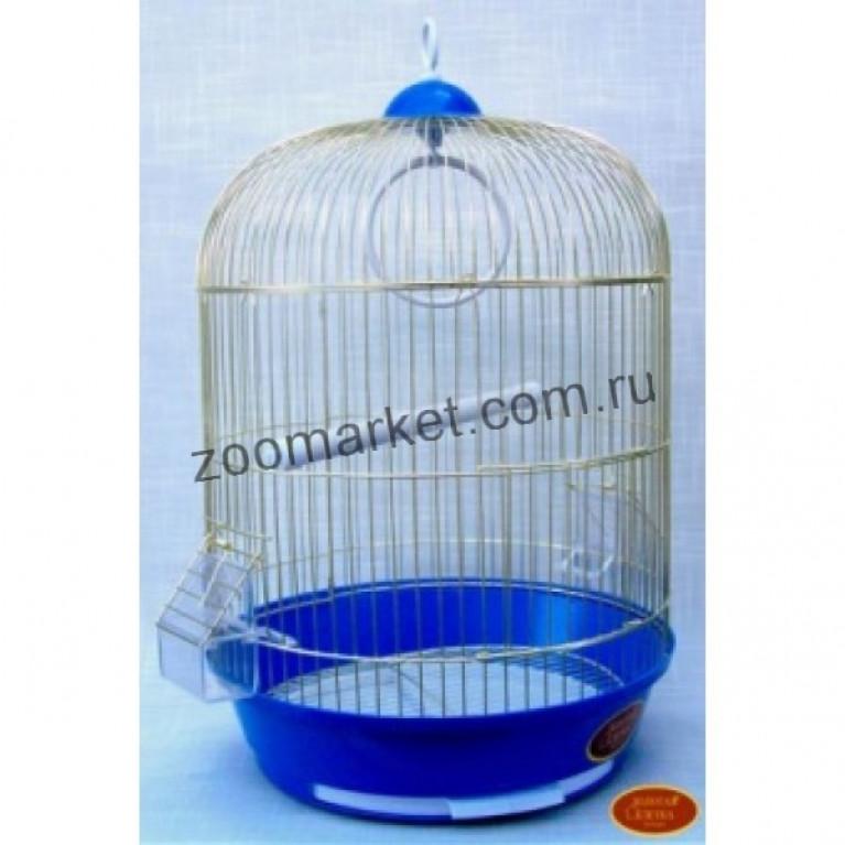 З/К/Клетка для птиц  М Круглая 33*53см Золото