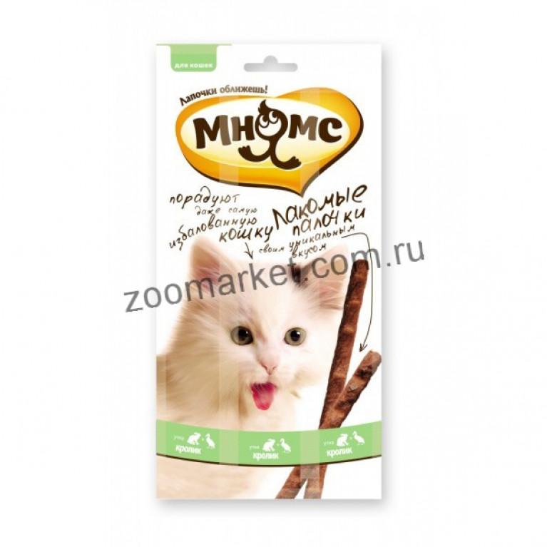 Мнямс Лакомые палочки для кошек (Утка, кролик) 13,5 см 1 шт.