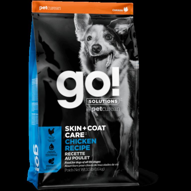 GO! SKIN + COAT Grain Free Chicken Recipe DF Корм для Собак всех возрастов с Цельной Курицей, фруктами и овощами