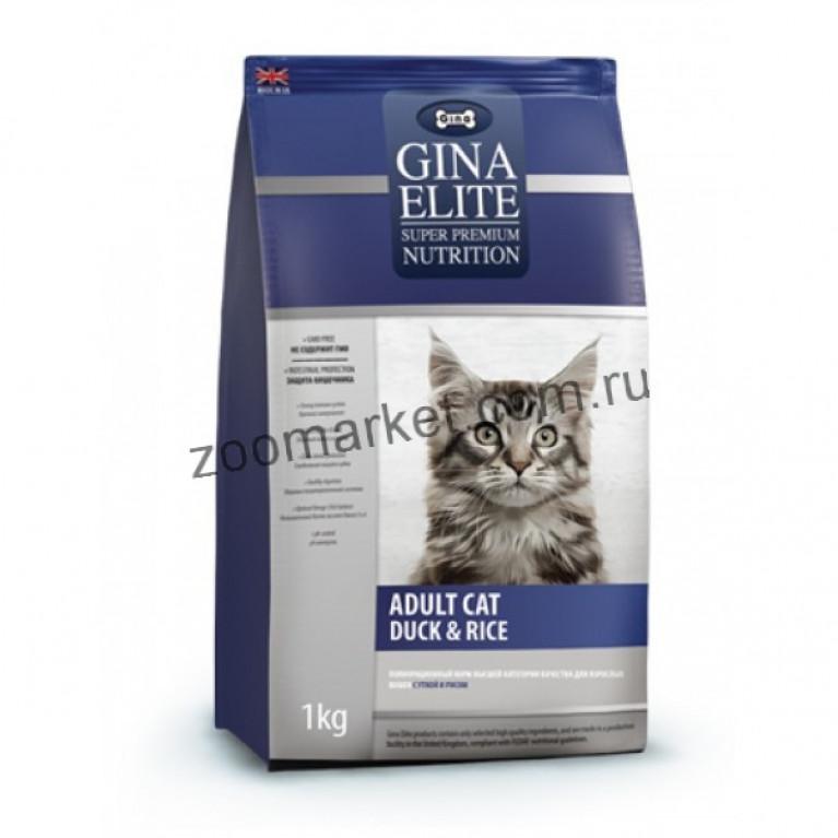 GINA ELITE Adult Cat Duck & Rice/Корм для взрослых кошек с уткой и рисом