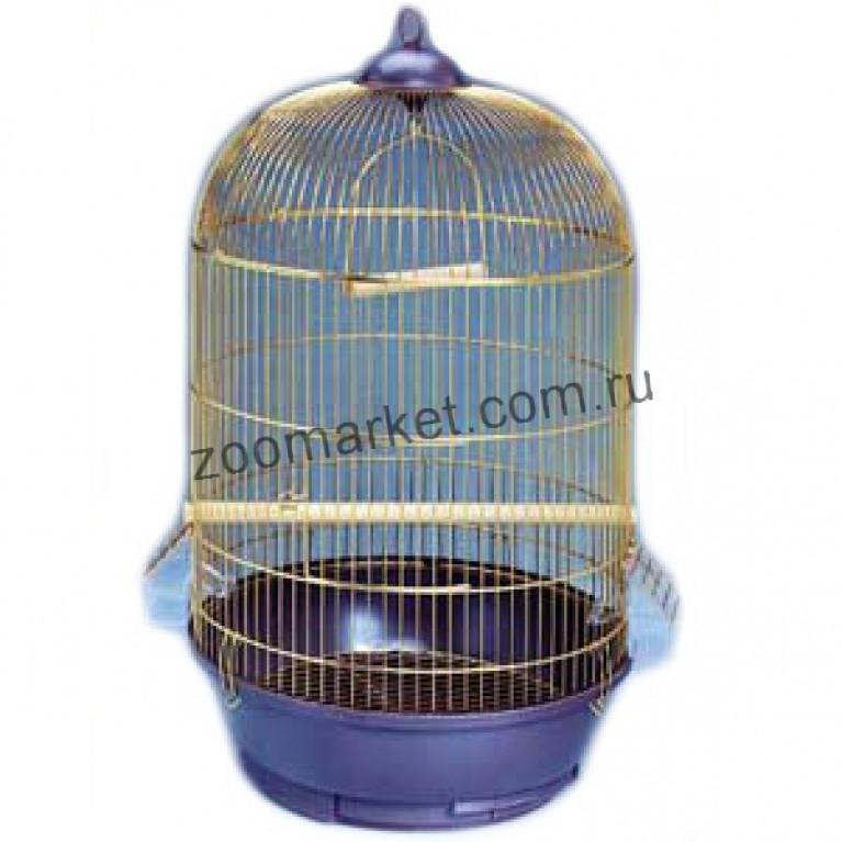 З/К/Клетка для птиц Ср Кругл высокая DIVA Золото 40*70см