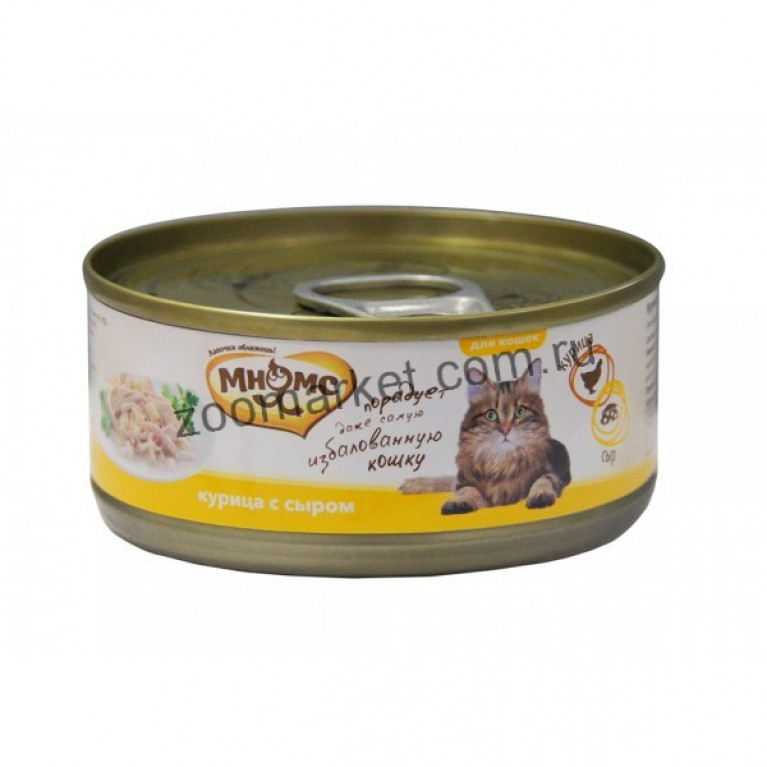 Мнямс Консервы для кошек (Курица с сыром в нежном желе) 70 гр