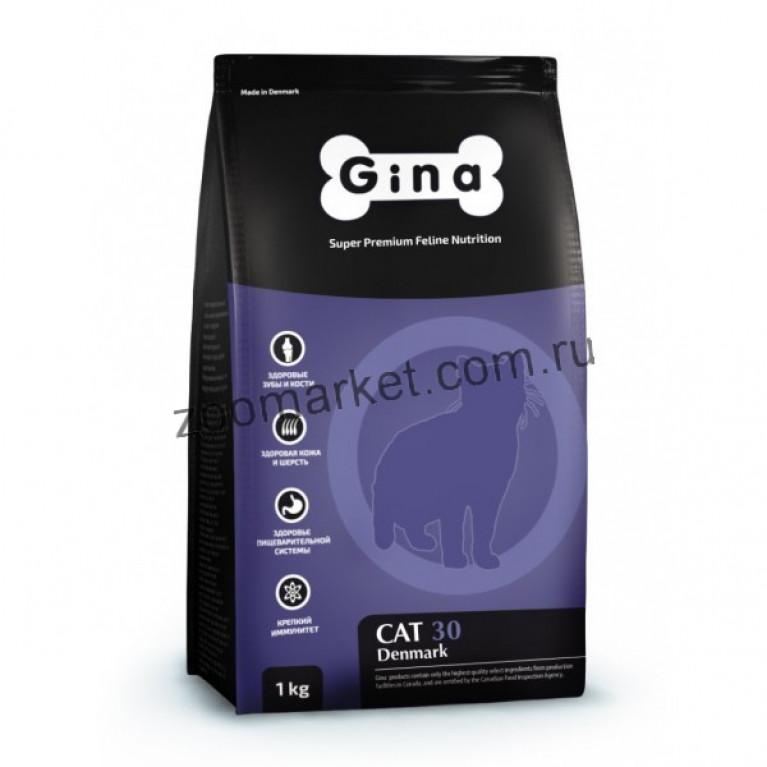 Gina Denmark Cat 30 /Полнорационный сбалансированный корм  для взрослых кошек с нормальным уровнем активности