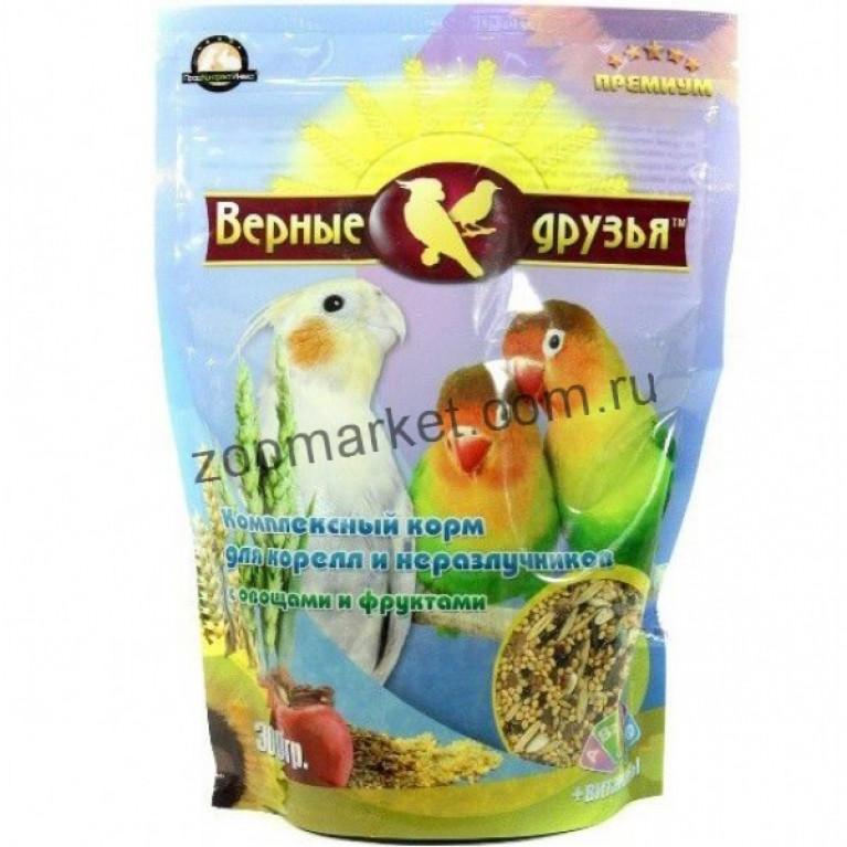 Верные Друзья Премиум  Комплексный корм для корелл и неразлучников с овощами и фруктами 500гр