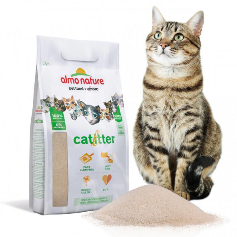 Almo Nature Cat Litter 100% натуральный биоразлагаемый комкующийся наполнитель