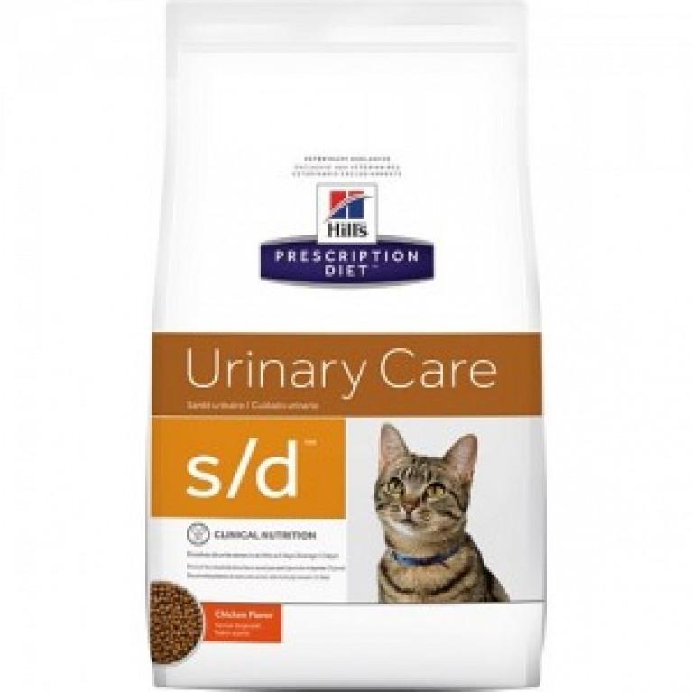 Hill's Prescription Diet S/D Сухой корм для кошек лечение МКБ струвиты