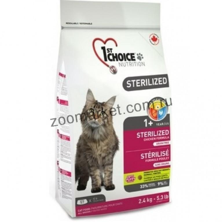 1st Choice Sterilized Сухой корм для кошек (Курица с Бататом)