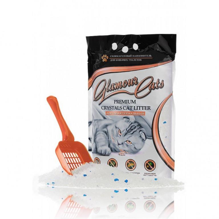 Glamour Cats Наполнитель силикагелевый антибактериальный, 3,8л (1,7кг)